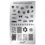 Plaque Konad STAMPING sports