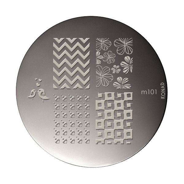 Stamping plaque Konad M101