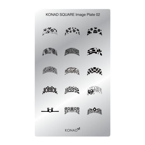 Plaque Konad rectangulaire SQ2 French