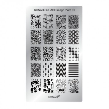 Plaque Konad rectangulaire 1