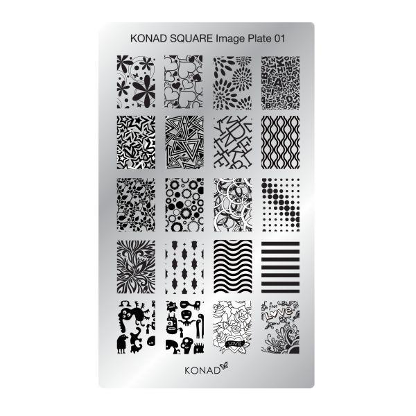 Stamping Plaque Konad SQ01 jambo
