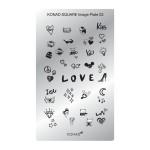 Plaque Konad rectangulaire 3 Love