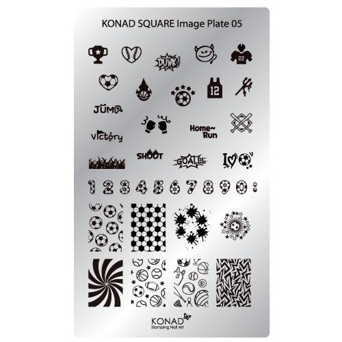 Plaque Konad stamping nail art SQ5