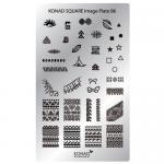 Stamping Plaque Konad nal art SQ6 indien