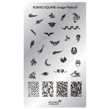 Plaque Konad rectangulaire 7 tatoo tribal