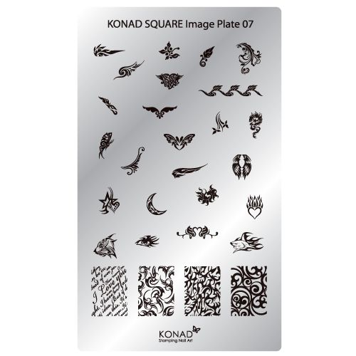 Stamping Plaque Konad SQ7 tatoo tribal