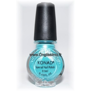 Konad stamping bleu atoll