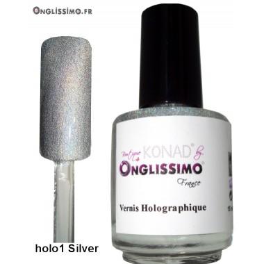 Vernis Holographique Rainbown Silver