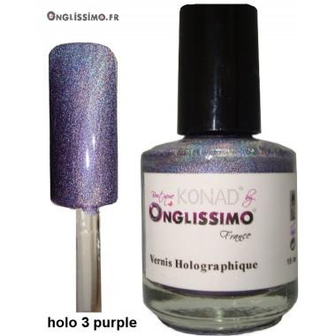 Vernis Holographique Rainbown purple