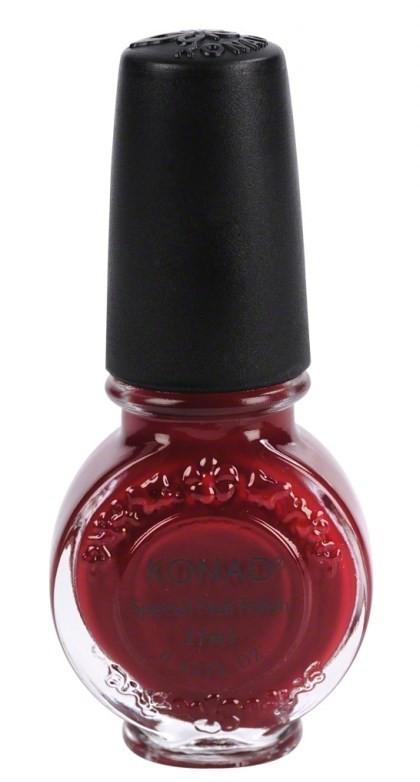 Stamping Vernis spécial Konad dark red framboise