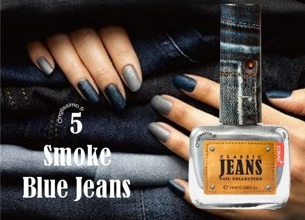 Vernis à ongles Effet Jeans Smoke Blue