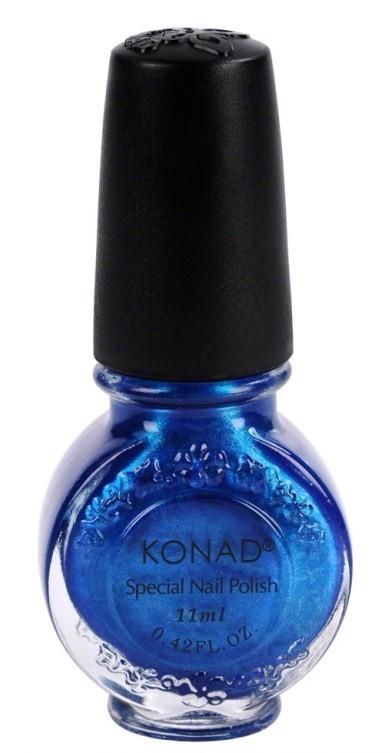 Vernis spécial stamping Konad Bleu saphir