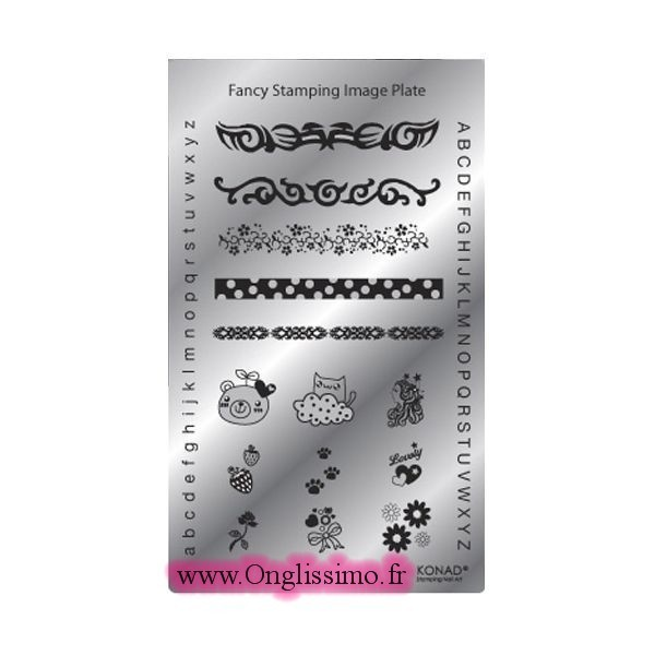 Plaque Konad stamping Fancy