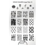 Plaque Stamping Konad Nail Art 10 Noël