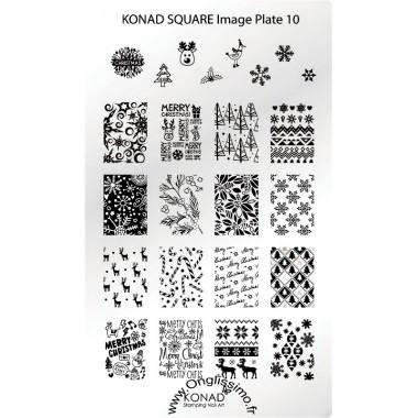 Plaque Konad Stamping Nail Art 10 Noël