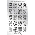 Stamping Plaque Konad Nail Art 11 Fleurs