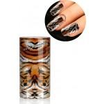Foil nail art effet tigre