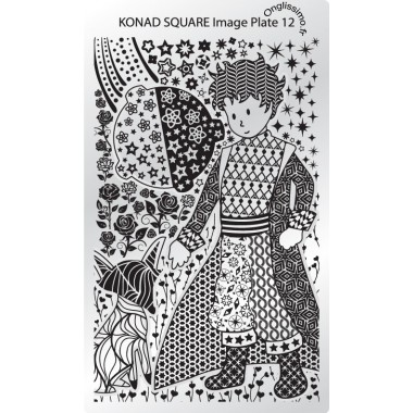 Plaque Konad Stamping Nail Art 12 prince