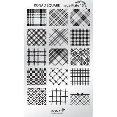 Plaque Konad Stamping Nail Art 13
