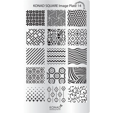 Plaque Konad Stamping Nail Art 14
