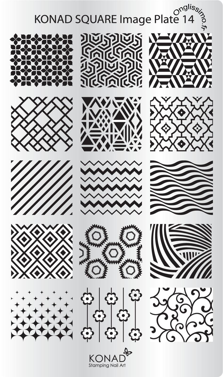 Stamping Plaque Konad Nail Art SQ14