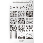 Plaque Konad Stamping Nail Art SQ18 Fruits
