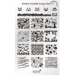 Plaque nail art Konad® Stamping SQ17 Halloween