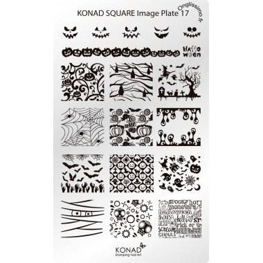 Plaque Konad Stamping Nail Art SQ17 Halloween