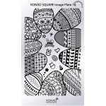 Plaque Konad Stamping Nail Art SQ16 Pâques