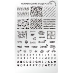 Stamping Plaque Konad nail art SQ15