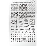 Stamping Plaque Konad SQ15 Ecriture