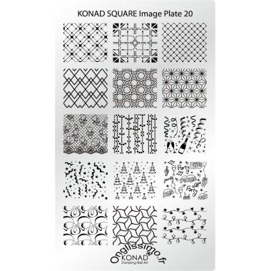 Plaque Konad Stamping Nail Art SQ20 festive