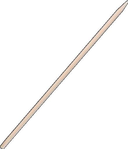 Bâton repousse cuticule en bois d'oranger