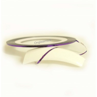 Striping tape violet pour ongles