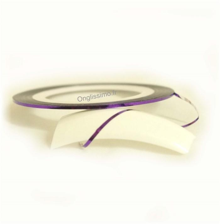 Striping tape violet déco des ongles n°15
