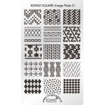 Plaque stamping Konad Nail Art SQ21