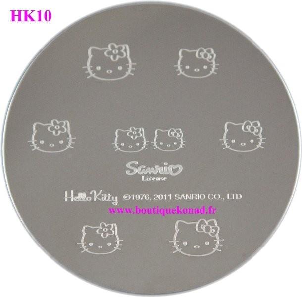 Hello Kitty Stamping Nail Art n°10 Noeuds Fleurs