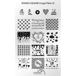 Plaque Konad Stamping SQ22 St Valentin