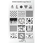 Plaque nail art Konad Stamping SQ22