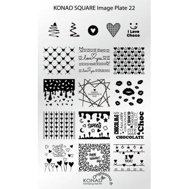 Plaque Konad Stamping Nail Art SQ22 st valentin