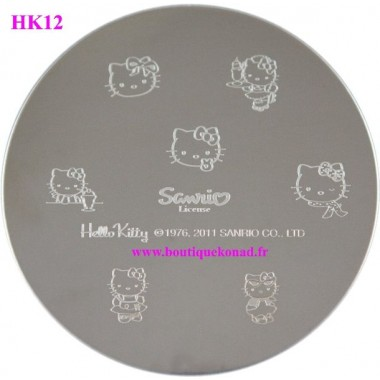 Hello Kitty Stamping Nail Art n°12 Robe
