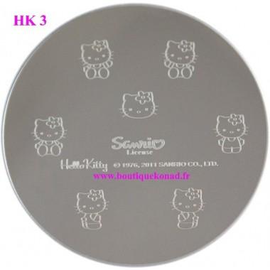 Hello Kitty Stamping Nail Art n°3 Fleurs