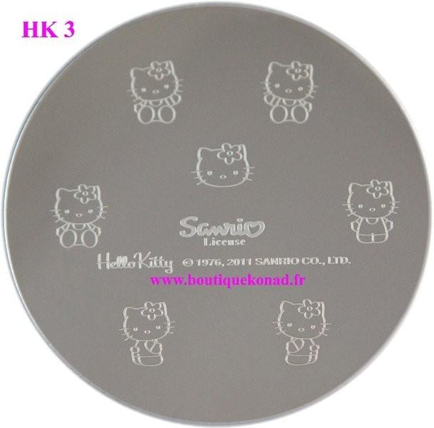 Stamping Hello Kitty Nail Art n°3 Fleurs