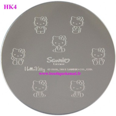 Hello Kitty Stamping Nail Art n°4 Noeuds
