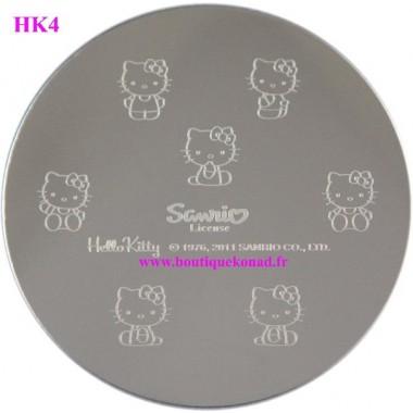 Hello Kitty Stamping Nail Art n°4 Noeuds
