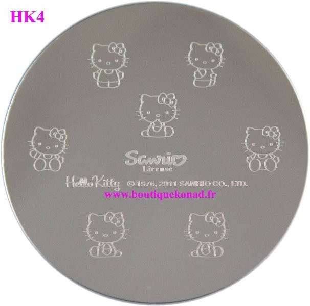 Stamping Hello Kitty Nail Art n°4 Noeuds