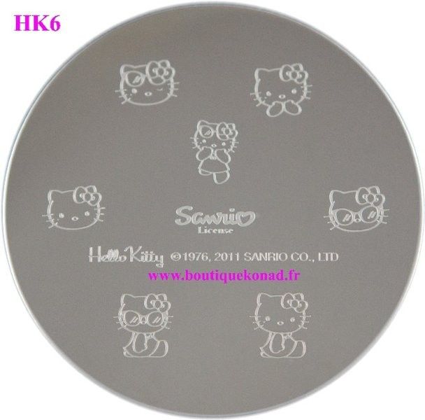 Hello Kitty Stamping Nail Art n°6 Vacances