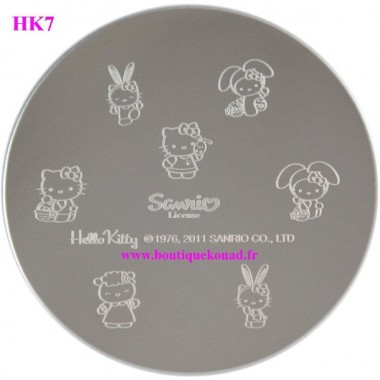 Hello Kitty Stamping Nail Art n°7 Paques