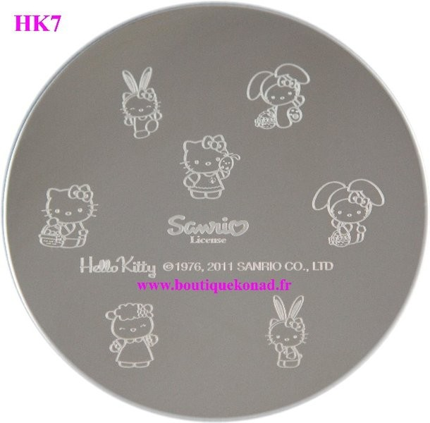 Stamping Hello Kitty Nail Art n°7 Paques