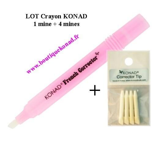 Crayon correcteur manucure 5 mines Konad